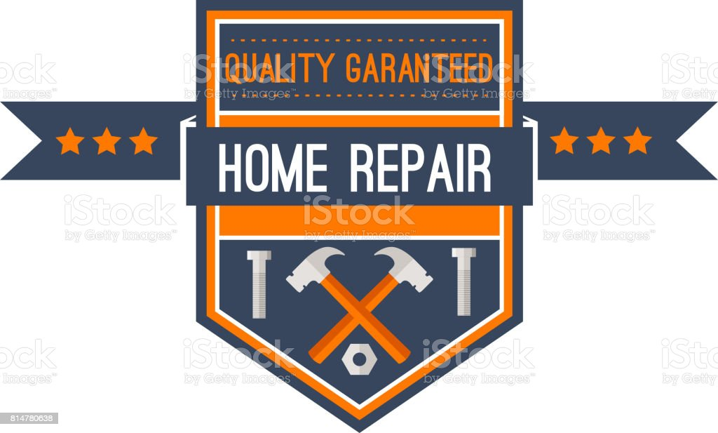 Home repair construction work tools vector icon vector art illustration