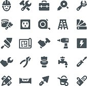Construction, repair, home repair, icon, icon set, work tools