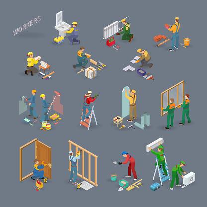 Handyman stock illustrations