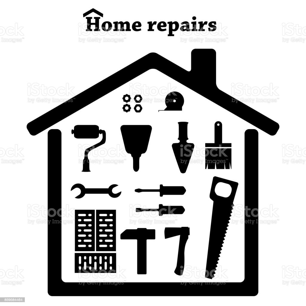 Home Repairs Icon Set Of Tools Stock Vector Art & More