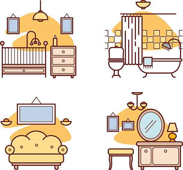 Royalty Free Baby Sleeping In Crib Clip Art, Vector Images ...