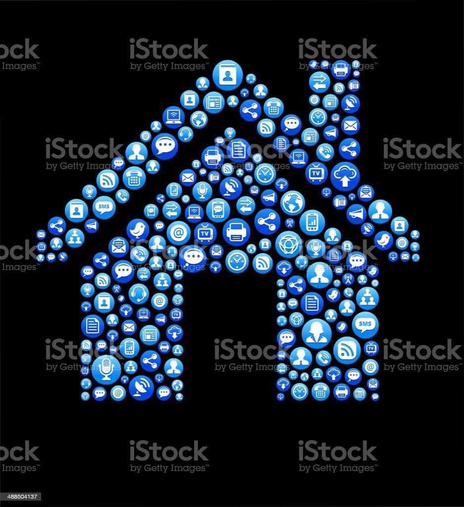 Home Lizenzfreie Vektorsocial Network Und Interneticonset Stock Vektor Art  und mehr Bilder von Blau