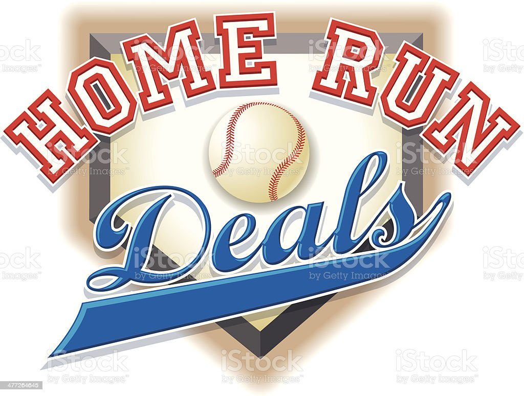 Home Run Heading C vector art illustration