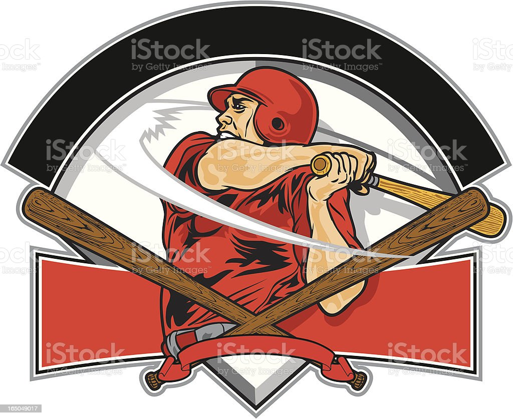 Home Run Hitter royalty-free stock vector art