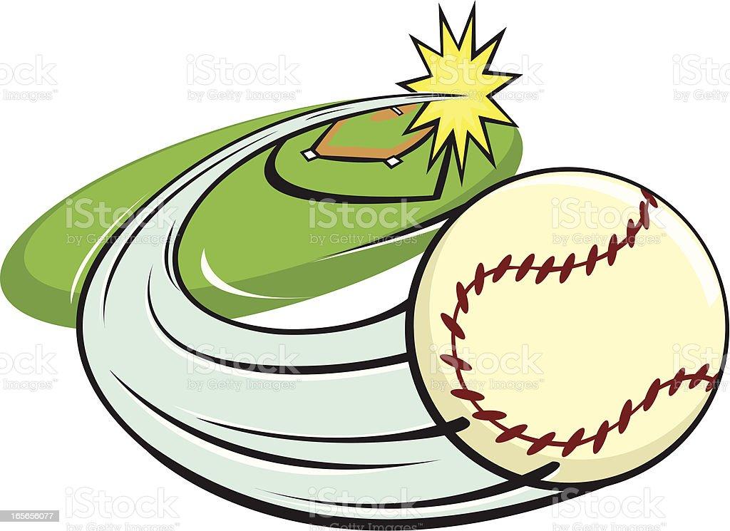 Home Run vector art illustration