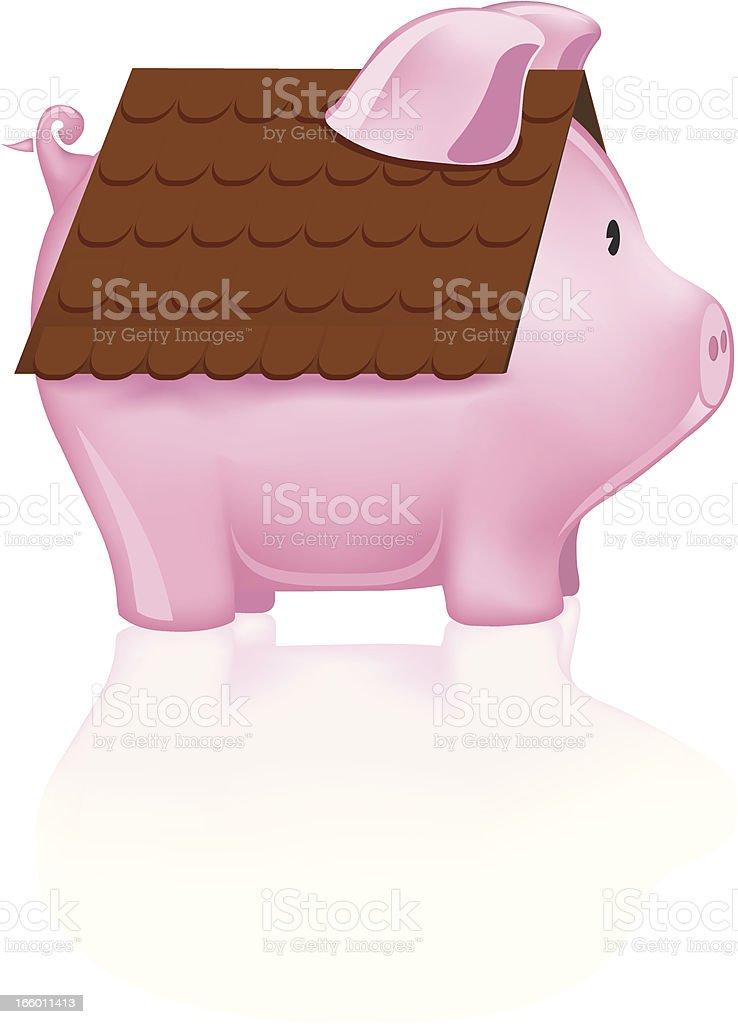 Home Savings royalty-free stock vector art