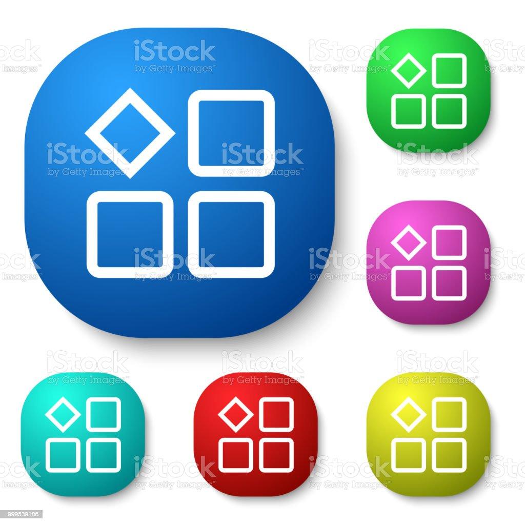 ホーム画面のボタン アイコンのベクターアート素材や画像を多数ご用意