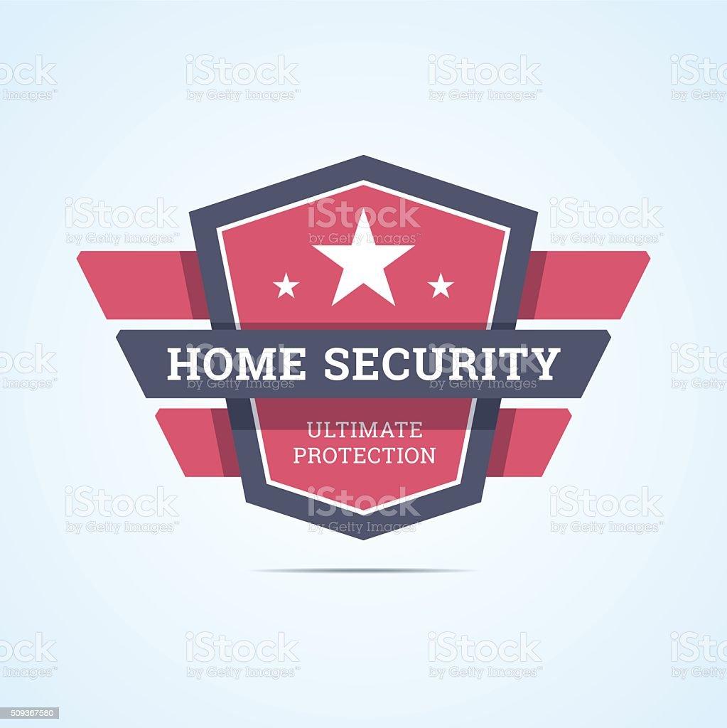 Insigne de sécurité à la maison. - Illustration vectorielle