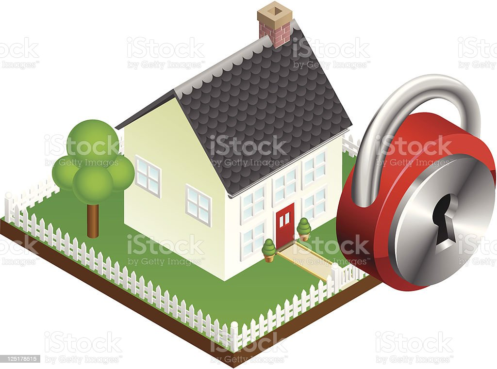 Home security system concept royalty-free stock vector art