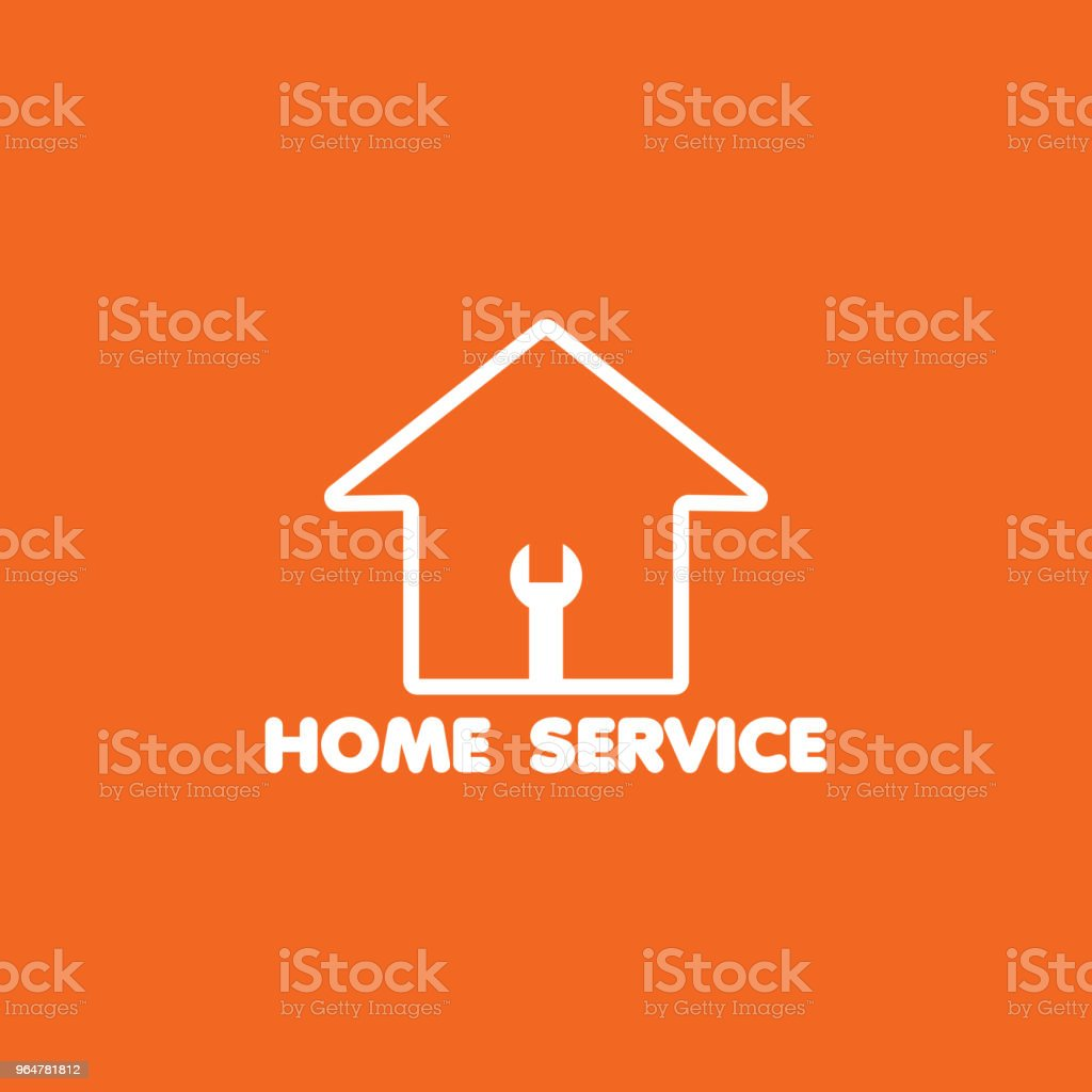 Home Service Logo Vector Template Design royalty-free home service logo vector template design stock vector art & more images of abstract