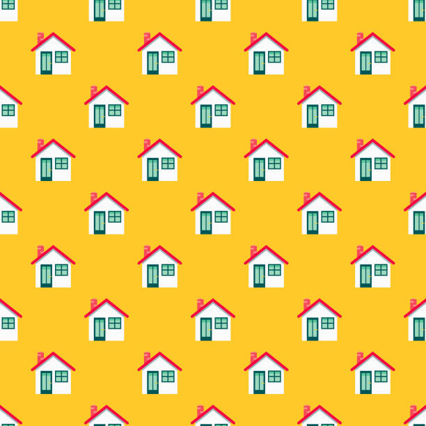 Home Shipping Seamless Pattern A seamless pattern created from a single flat design icon, which can be tiled on all sides. File is built in the CMYK color space for optimal printing and can easily be converted to RGB. No gradients or transparencies used, the shapes have been placed into a clipping mask. samenwerking stock illustrations