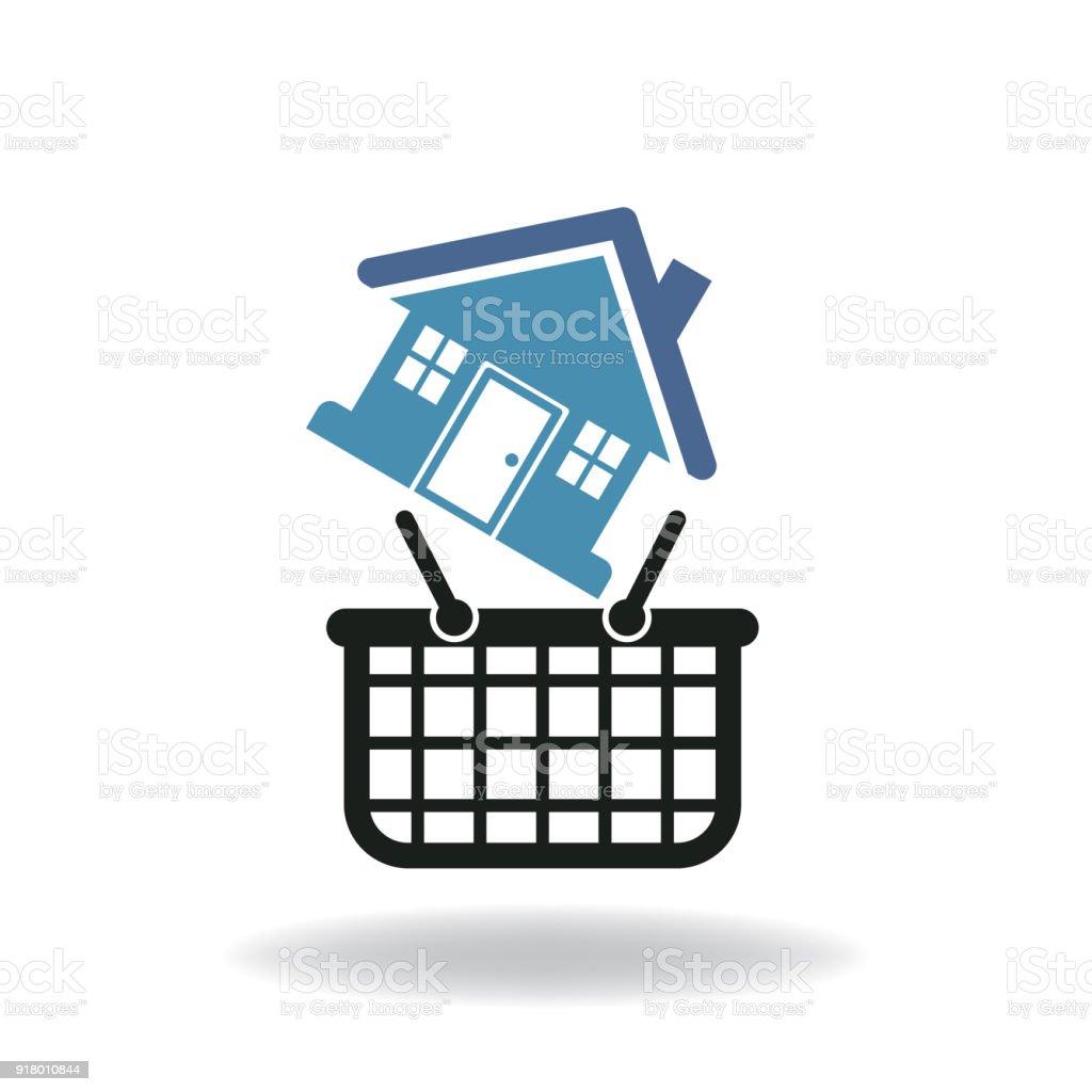 home shopping vector art illustration