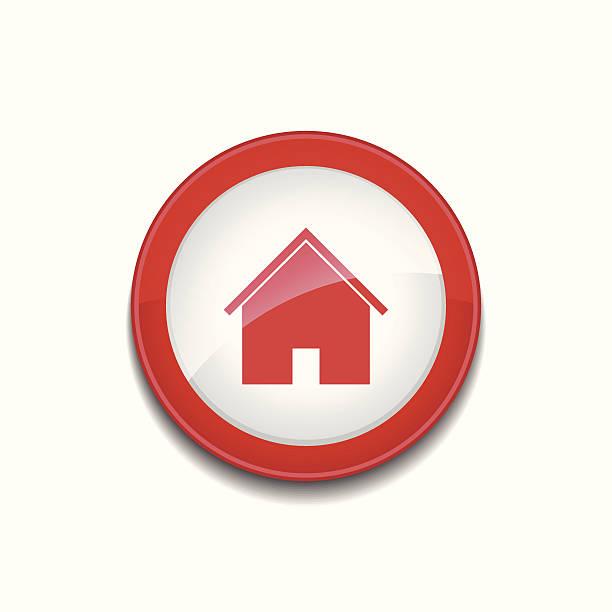홈화면 팻말 작은창자 아르카디아 아이콘 벡터 버튼 - home icon stock illustrations