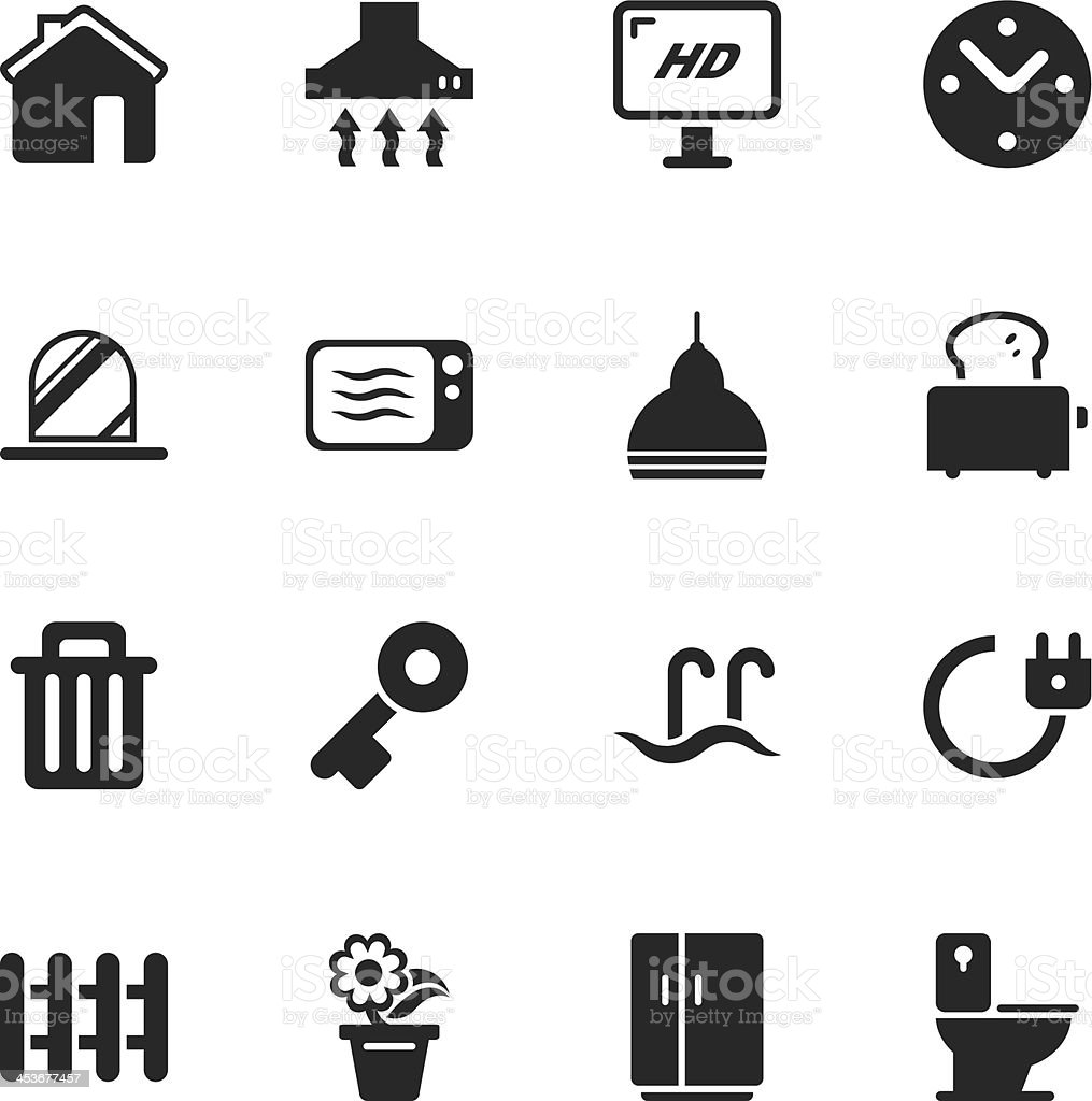 Home Silhouette Icons royalty-free stock vector art