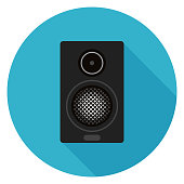 Home sound system icon.