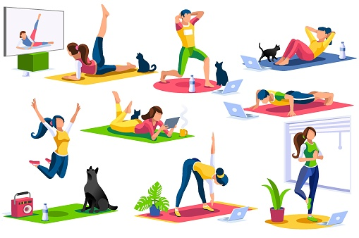 Home Sports Vector Isometric People Collection