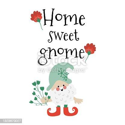 istock Home sweet gnome 1323870027