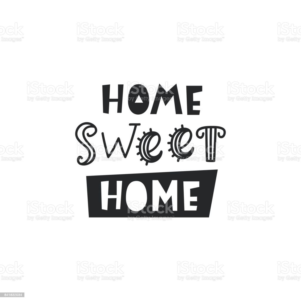 Home Sweet Home Card Typography Poster Design Stock Vector Art ...