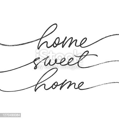 istock Home sweet home ink brush vector lettering. Modern slogan handwritten vector calligraphy. 1270490084
