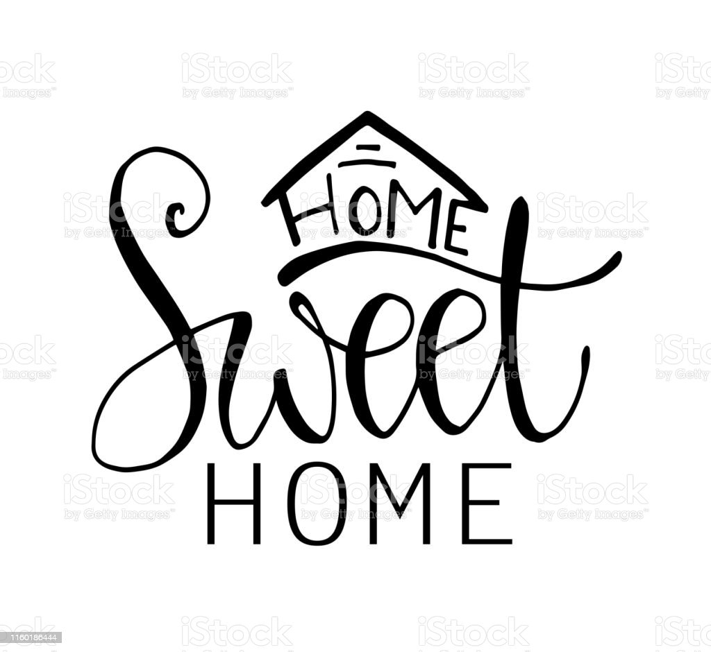 Home Sweet Home Typography Poster Stock Illustration Download Image Now Istock