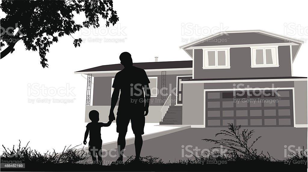 Home Sweet Home vector art illustration