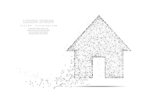 Home symbol. vector art illustration