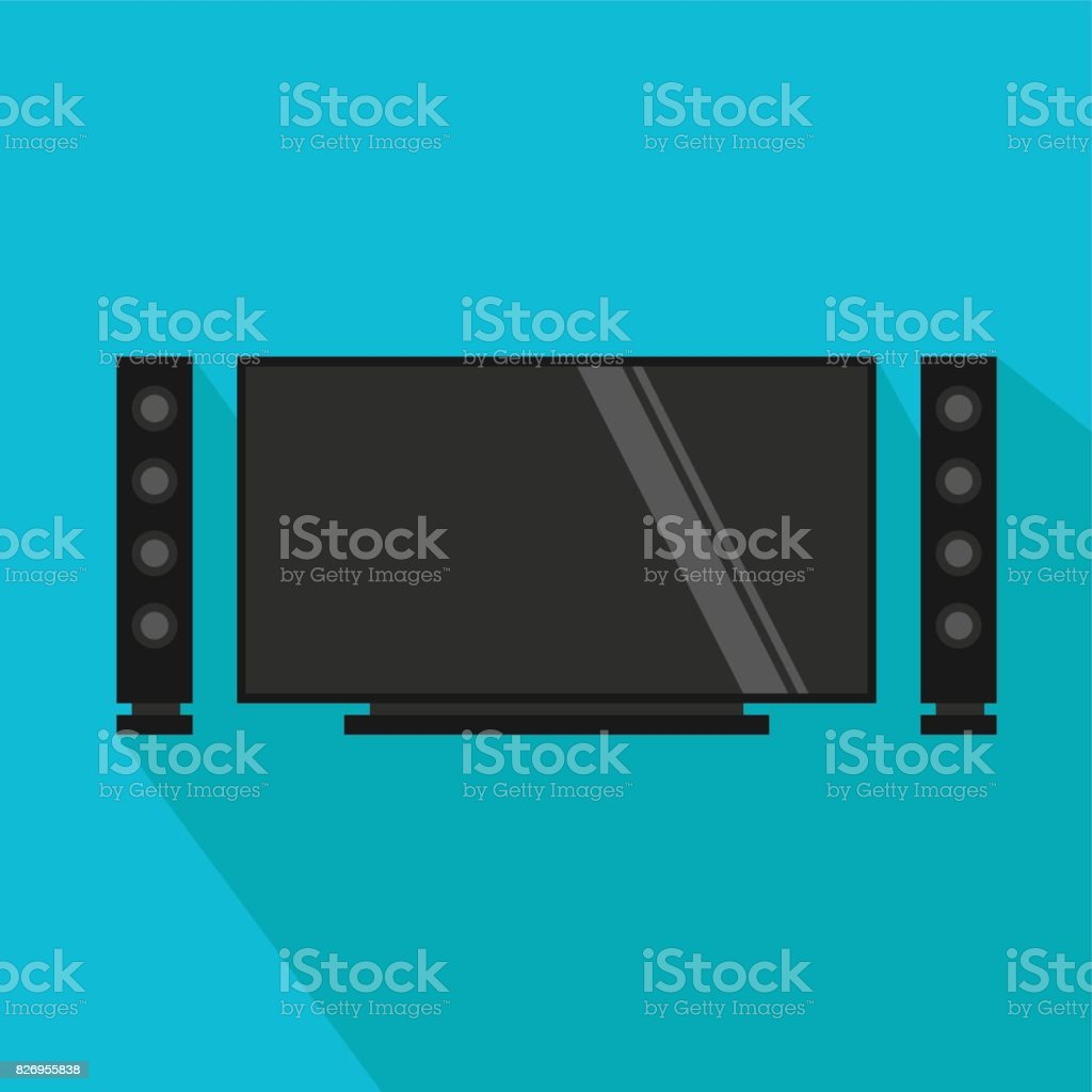 Home Theatre Stock Vector Art & More Images of Arts Culture and ...