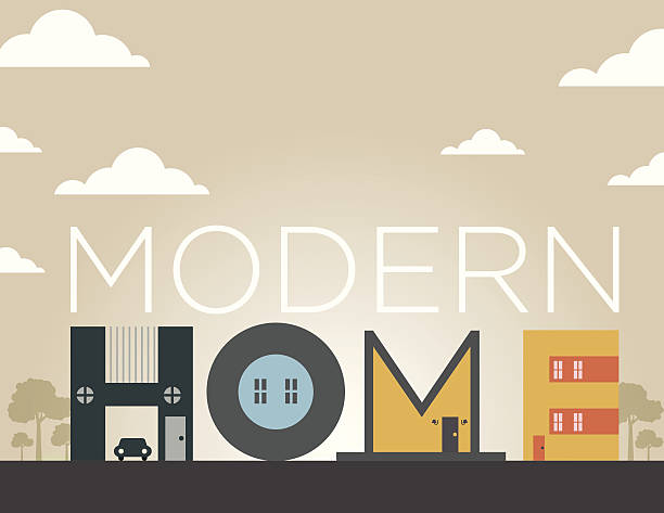 home art illustration - neues zuhause stock-grafiken, -clipart, -cartoons und -symbole