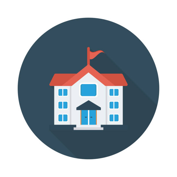 home home schoolhouse stock illustrations