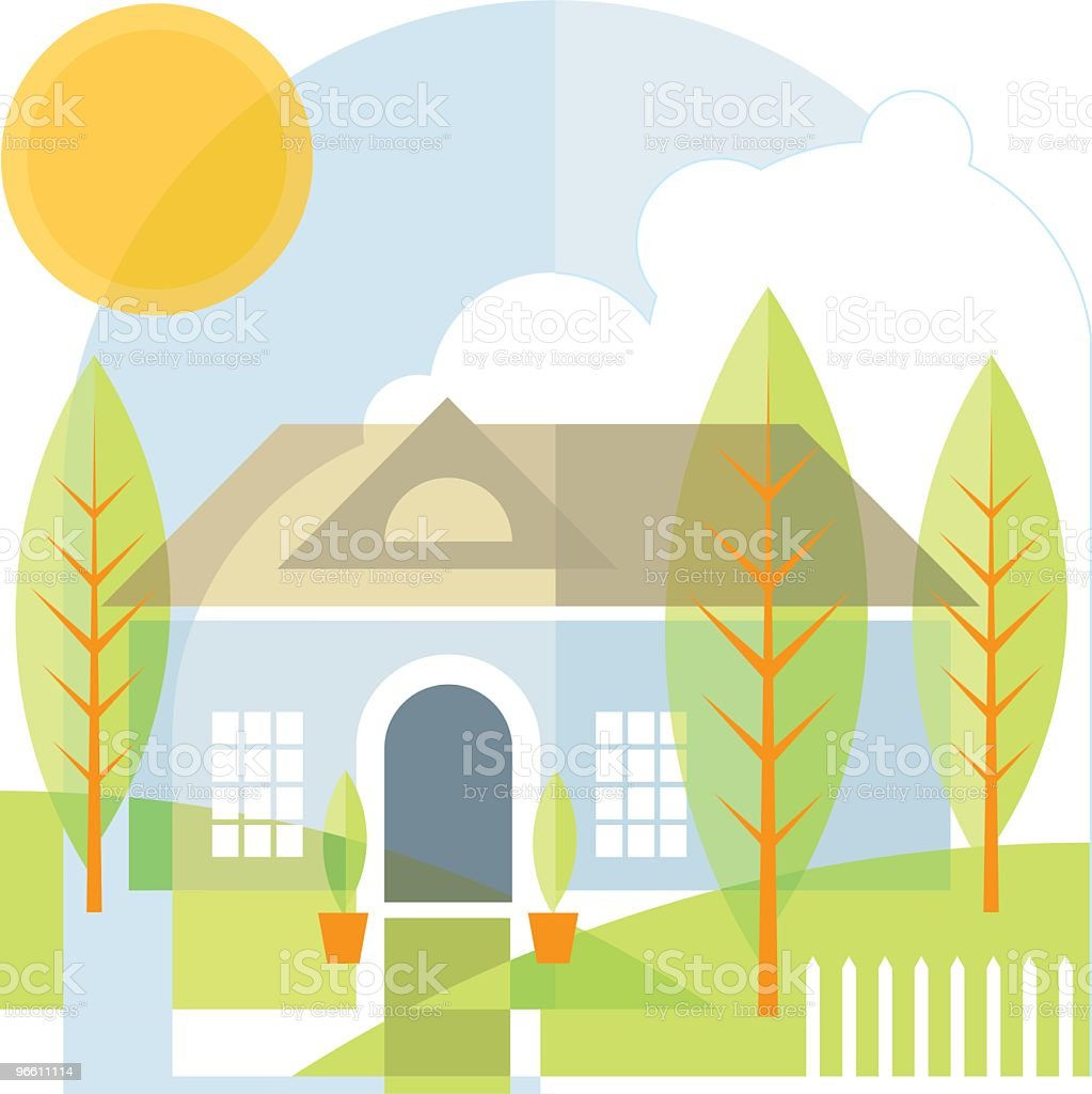 home - Royalty-free Architectuur vectorkunst