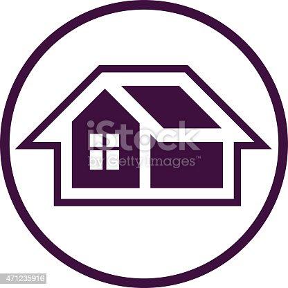 ベクトルシンボルは自宅で使用されるウェブサイトのデザインです の