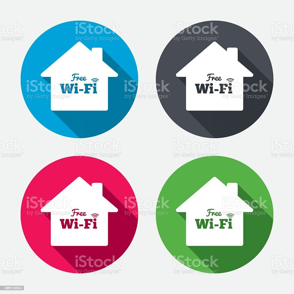 Home Wifi Sign Symbol Wireless Network Stock Vector Art More Diagram Royalty Free