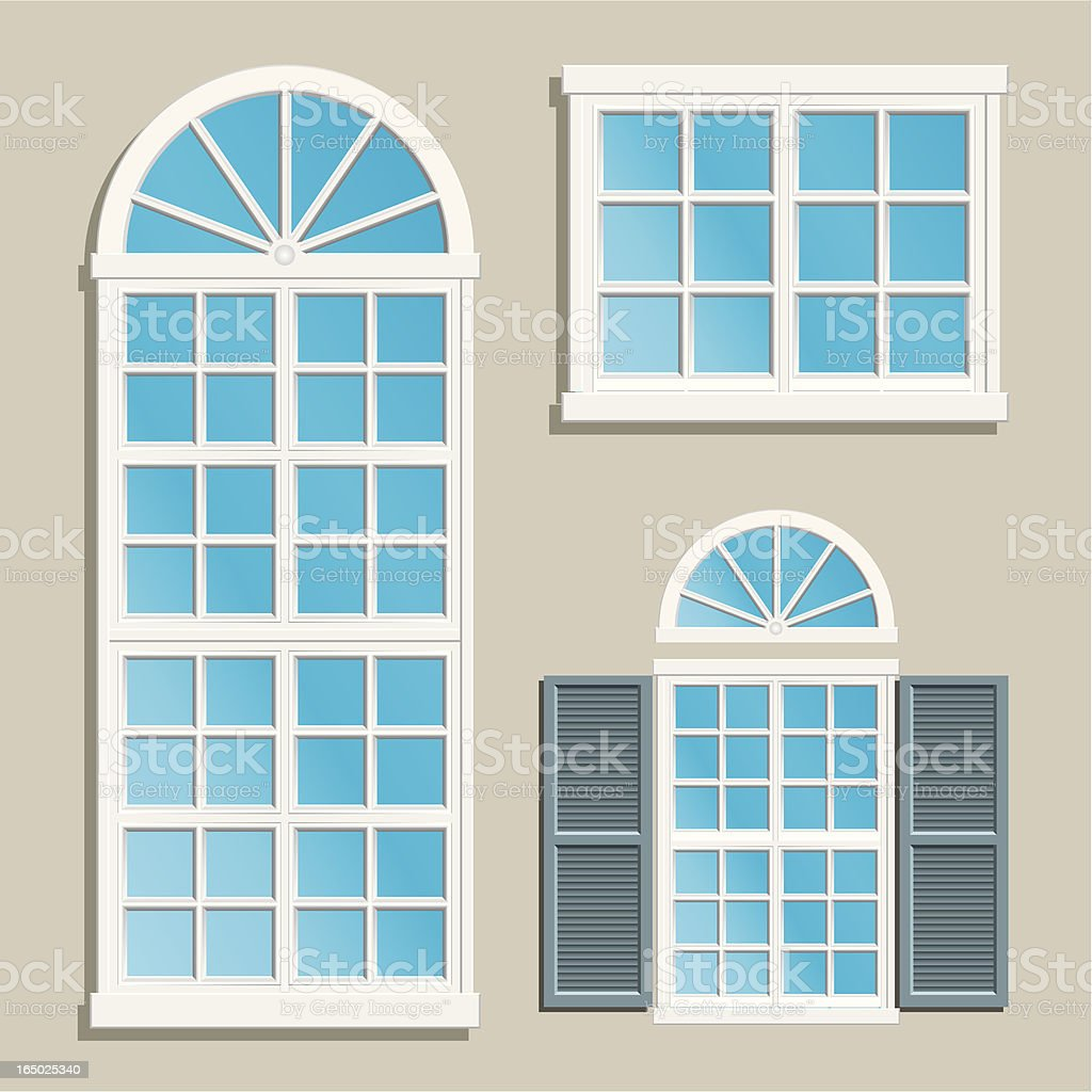 home windows vector art illustration