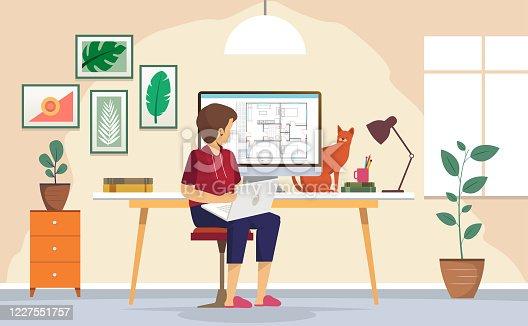 istock Home Work 1227551757