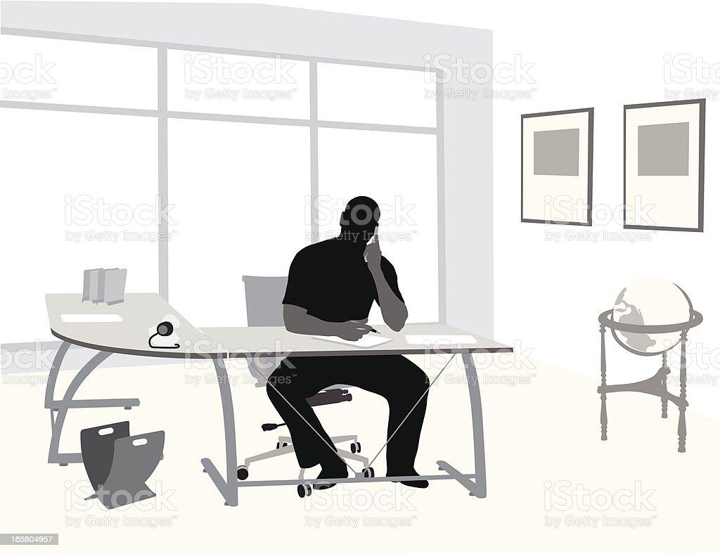 Home Work Vector Silhouette vector art illustration
