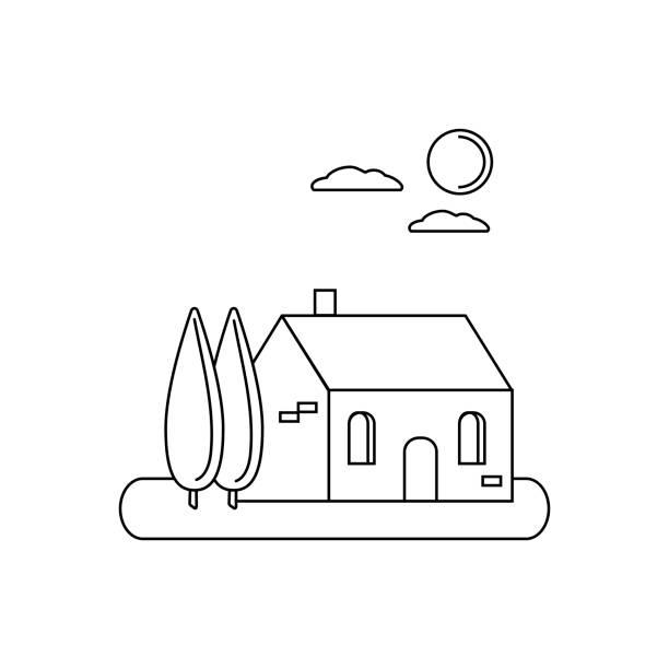 home_sweet_home - villas stock-grafiken, -clipart, -cartoons und -symbole