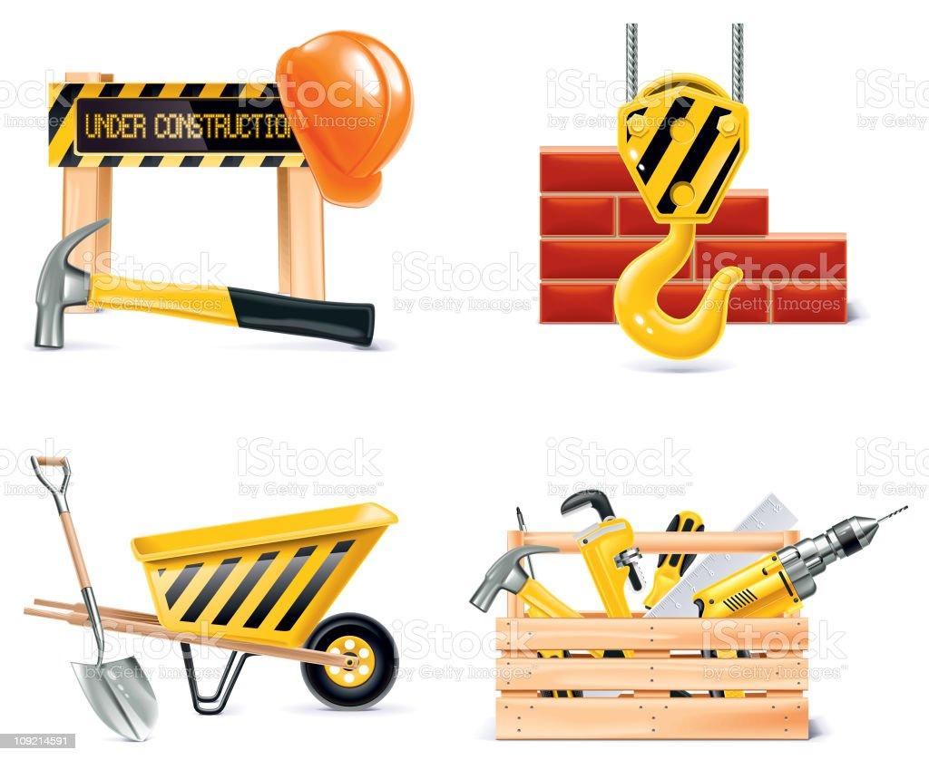 Homebuilding & Renovating icon set royalty-free stock vector art