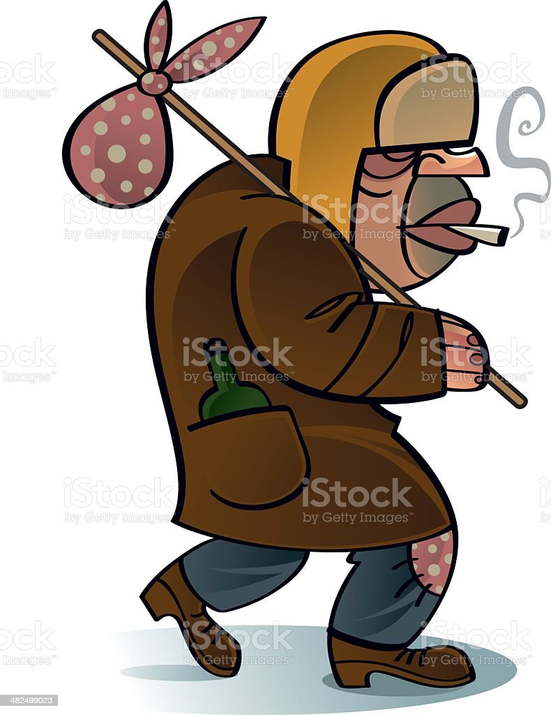 Homeless drunk beggar royalty-free homeless drunk beggar stock vector art & more images of adult