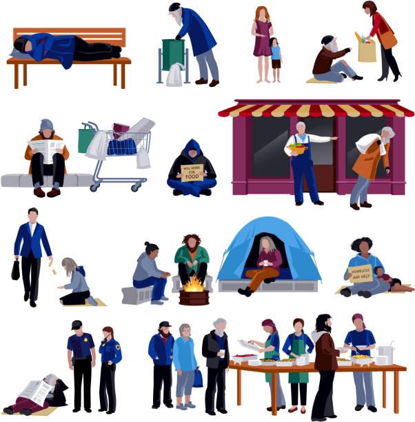 Obdachlose Ikonen – Vektorgrafik