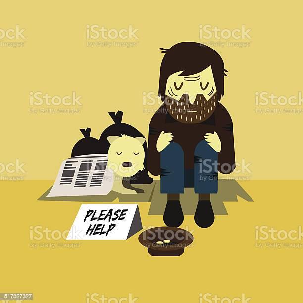 Homeless man with a dog sleeping on street vector id517327327?b=1&k=6&m=517327327&s=612x612&h=hlypvioh0b67fhhuesuj2cxnf tbgk1ur voztr dz4=