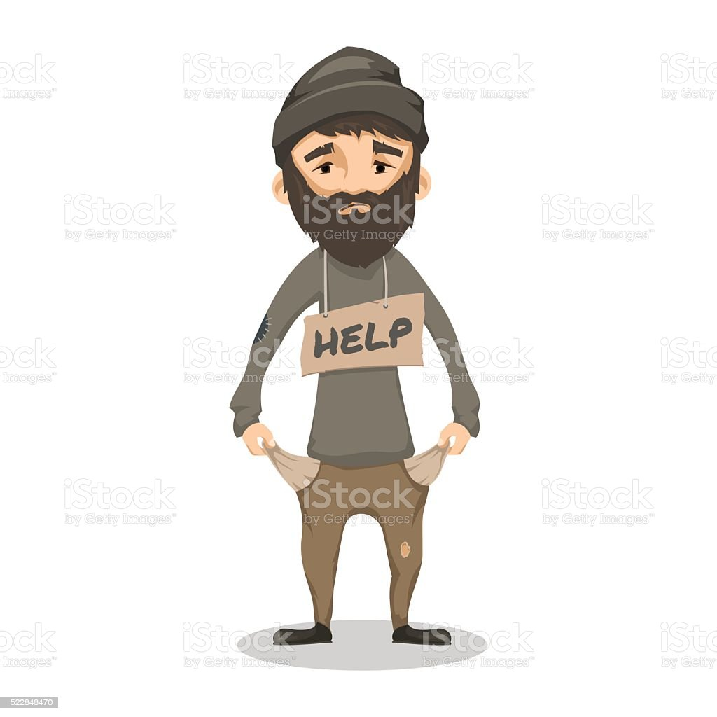 royalty free homeless man clip art vector images illustrations rh istockphoto com clipart man running clipart man and woman