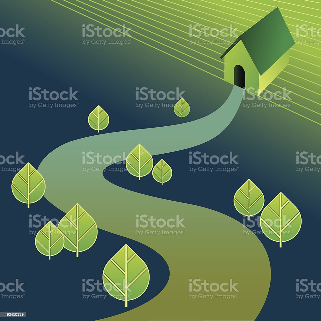homely house vector royalty-free stock vector art