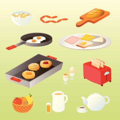 homemade breakfast icons