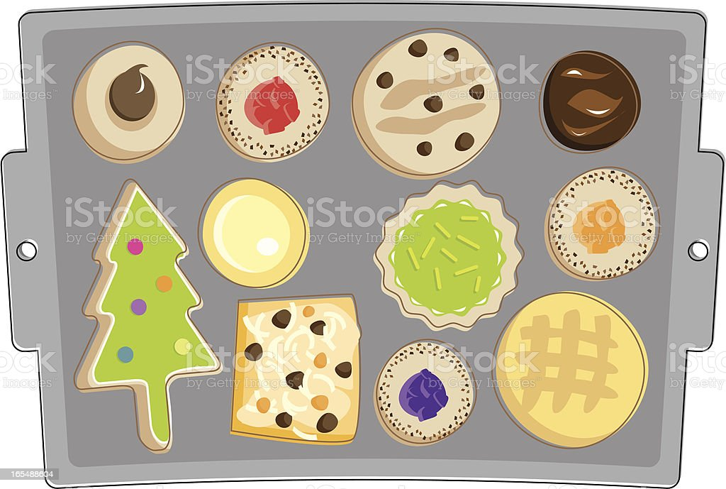 Homemade Cookies vector art illustration