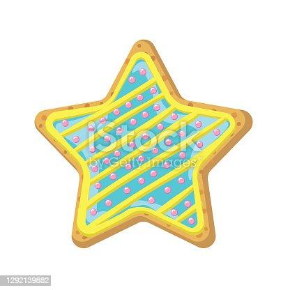 Freshly baked cookie. Flat colors, easy to edit. File is CMYK.