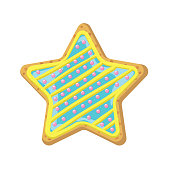 istock Homemade Decorated Star Cookie 1292139882
