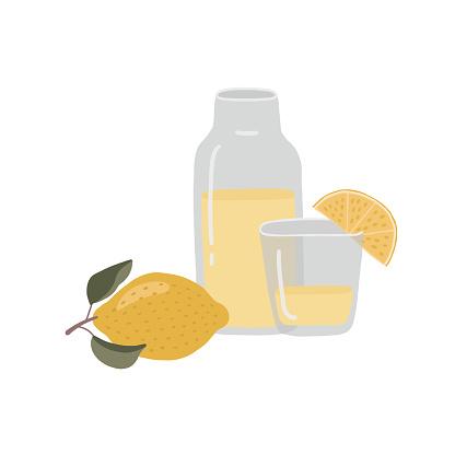 Homemade lemonade vector illustration