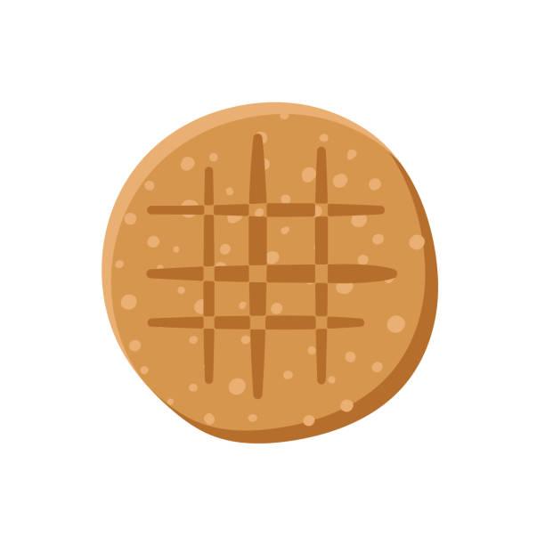 Homemade Peanut Butter Cookie vector art illustration