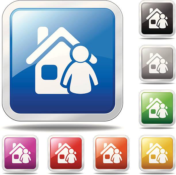 Homeowner Icon vector art illustration