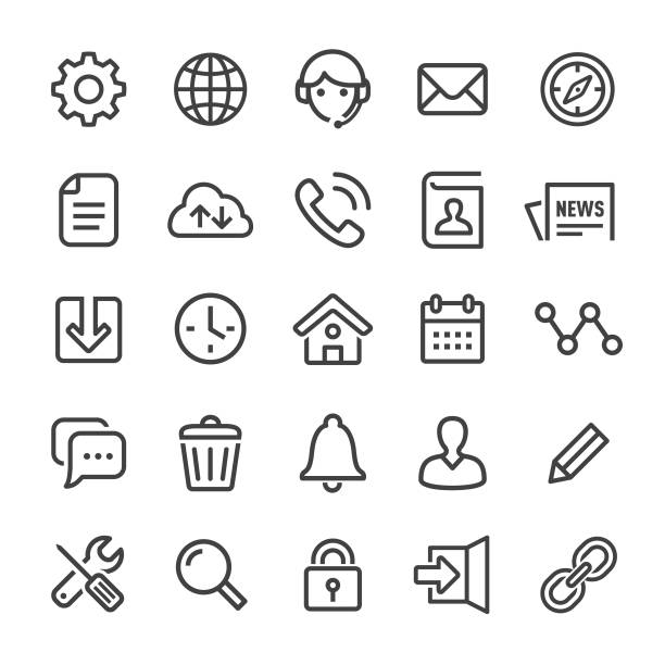 homepage icons - smart line series - strona startowa stock illustrations